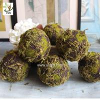 China UVG arts and crafts artificial moss ball fake garden stone for wedding event decoration GRS043 wholesale