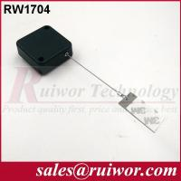 China 95 Cm Cable Length Security Pull Box White / Black With Clinging Dog Tag End wholesale