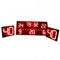 China Multi - Function Sports LED Football Scoreboard With Shot Clock CE / RoHS Approved wholesale