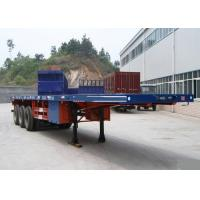China Container Carrying Flatbed Semi Trailer Truck 3 Axles 30-60 Tons 13m on sale