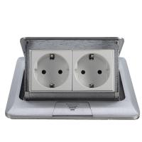 Buy cheap popular silver EU plug Pop Up double Floor Socket /power outlet from wholesalers