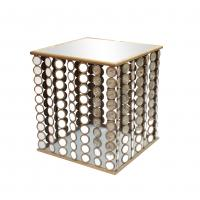 China Squre end table with small mirror decorations for Dinning room metal framed wholesale