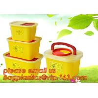 China BIOHAZARD WASTE CONTAINERS, PLASTIC STORAGE BOX, MEDICAL TOOL BOX, SHARP CONTAINER, SAFETY BOX, Disposable Hospital Bioh wholesale