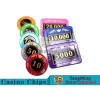 China 730pcs Crystal Screen Style Numbered Poker Chip Set With Aluminum Case wholesale