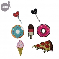 Buy cheap Custom Fashion Food Kids Cute Embroidery Iron On Patches For Clothing from wholesalers