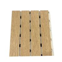 China Wooden Laminated Grooved Sound Absorbing Board Restaurant Decorative MDF Wall Panel on sale