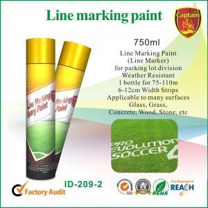 Quality Quick Color Line spray marker paint For Concrete / Asphalt / Glass / Wood wholesale