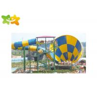 China Commercial Fiberglass Water Slides Attractive Popular High Safety  For Aquatic Park wholesale
