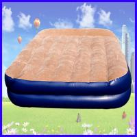 China PVC Flocking Covered Inflatable Air Beds , Portable Air Mattress wholesale