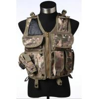 Quality Nylon / Webbing Airsoft Tactical Vest , Black / Green Police Tactical Vest for sale