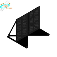 China Outdoor Aluminum Stage Crowd Control Barrier Performance Barriers wholesale