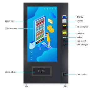 Buy cheap Touchscreen Small Drink Vending Machine , Black Vending Machine Equipment from wholesalers