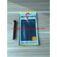 China Re - Sealable Zipper Moisturizing Cigar Humidor Bags With Printed Logo wholesale