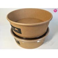 Buy cheap Unbleached Rice Noodle Kraft Paper Salad Bowls 20oz 26oz 32oz Food Container from wholesalers