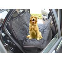 China Black Quilted Removable Pet Car Seat Covers With Seat Belt Holes on sale