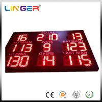 China Bright Red Color Mini Cricket Scoreboard With 12 Inch Digitits For Outside Usage wholesale