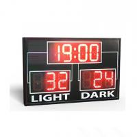 China Simple Use Standard Electronic Led Basketball Scoreboard In Red Colour wholesale