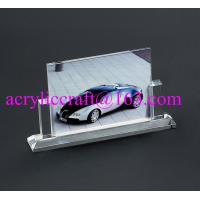China Wholesale handmade glass souvenir photo picture frames clear acrylic photo stand wholesale