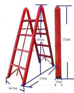 China Anti Slip Aluminium 4.6ft 4 Step Folding Ladder wholesale