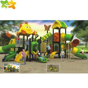 China Anti Skid Outdoor Children Park Plastic Playground Slide wholesale