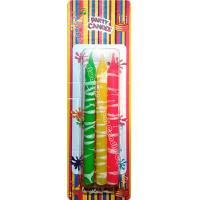 Quality Creative White Cream Shaped Birthday Candles Colorful Longer Burn Time wholesale