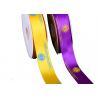 China Custom Printed Christmas Satin Ribbon , Polyester Grosgrain Ribbon Graphic Design wholesale