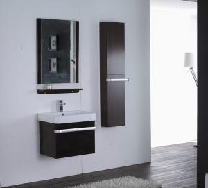 China Rectangle Type Hanging Bathroom vanity mirrored dark brown Color ISO2000 standard on sale