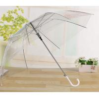China Transparent Clear Bell Shaped Umbrellas / Bridal Umbrella White Cap / Tips wholesale