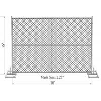 "Buy cheap 6' x 10' ""Smart Kids"" temporary chain link fence panels 1.625"