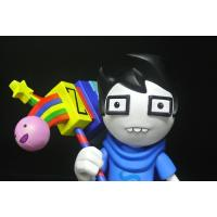 China Glasses Boy Custom Action Figures Home Decoration With A Colourful Chopper wholesale