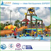 Quality Commercial Waterpark Equipment , 20 x 15 x 10m Fuuny Pool Slides for sale