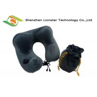 China Soft Colorful Inflatable Travel Pillow Keeps Your Neck With Washable Cover wholesale