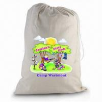 China Laundry Bag, Made of Natural Cotton Fabric with Customized Logo Printed wholesale