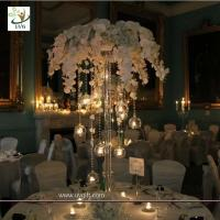 China UVG event party supplier 5ft wedding decoration table centerpiece in artificial orchids wholesale