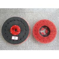 "China Rotary Floor Cleaning Machine Brushes , 19""  Size Disc Diamond Abrasive Brush wholesale"