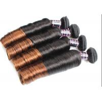 China Colored Ombre Indian Human Hair Weave Egg Curl No Any Bad Smell wholesale