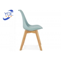 China Luxury Suede Modern Wooden Low Back Tufted Dining Room Chairs wholesale