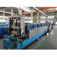 China 16 - 18 Stations CZ Purlin Roll Forming Machine With Hydraulic Cutting / Punching wholesale