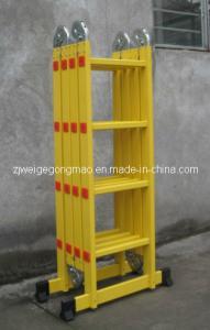 China Yellow Foldable 15.6ft 4x4 Aluminium Scaffolding Ladder wholesale