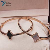 Quality Replicas Van Cleef & Arpels clover Gold Plated bangles for sale