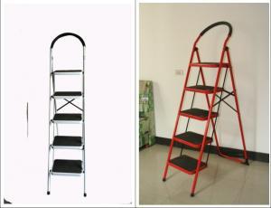 China Double Sided 5 Step 1.54m Metal Folding Step Stool wholesale