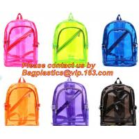 China Backpack Bag Casual Backpack For Women, outdoor clear pvc plastic backpack, school travel backpack with padded shoulder wholesale