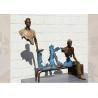 China Life Size Casting Finish Traveler Bronze Bruno Catalano Sculpture wholesale