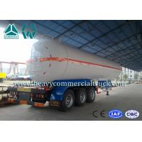 China White Carbon Steel Safety Lpg Transport Trailer With Air Spring Suspension wholesale