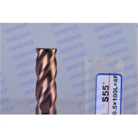 China Long Shank 4 Flute Solid Carbide Corner Radius End Mill With SiN Coating wholesale
