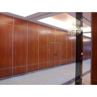 China Office Sound Proof Partition Wall , Melamine Surface Sliding Folding Acoustic Room Dividers wholesale