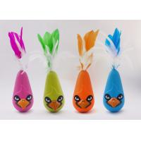 China Bird Shaped Design Wobble Cat Toy Non Toxic Material With Natural Feathers wholesale