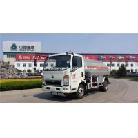 Quality Small HOWO120hp  Fuel Tanker Truck With 8m³Cube Loading SINOTRUK wholesale