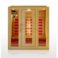 China far infrared sauna room with ceramic heater made of canada hemlock wood wholesale
