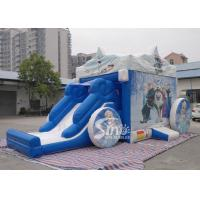 China Outdoor frozen carriage inflatable bouncy castles with slide for children wholesale
